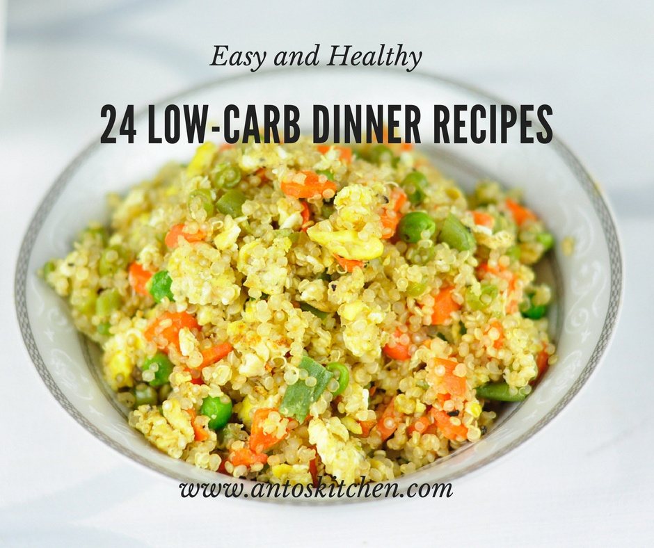 24 Low Carb Dinner Recipes