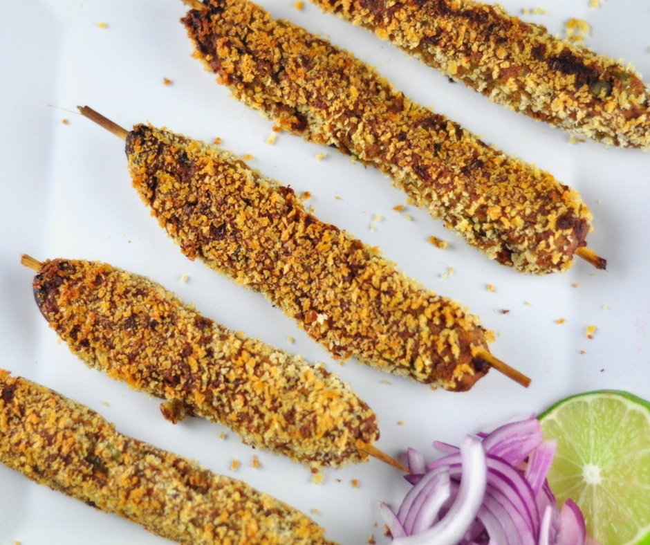 vegetable seekh kebabs