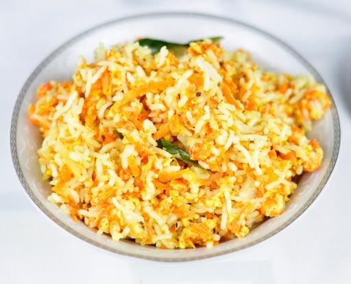 carrot egg rice