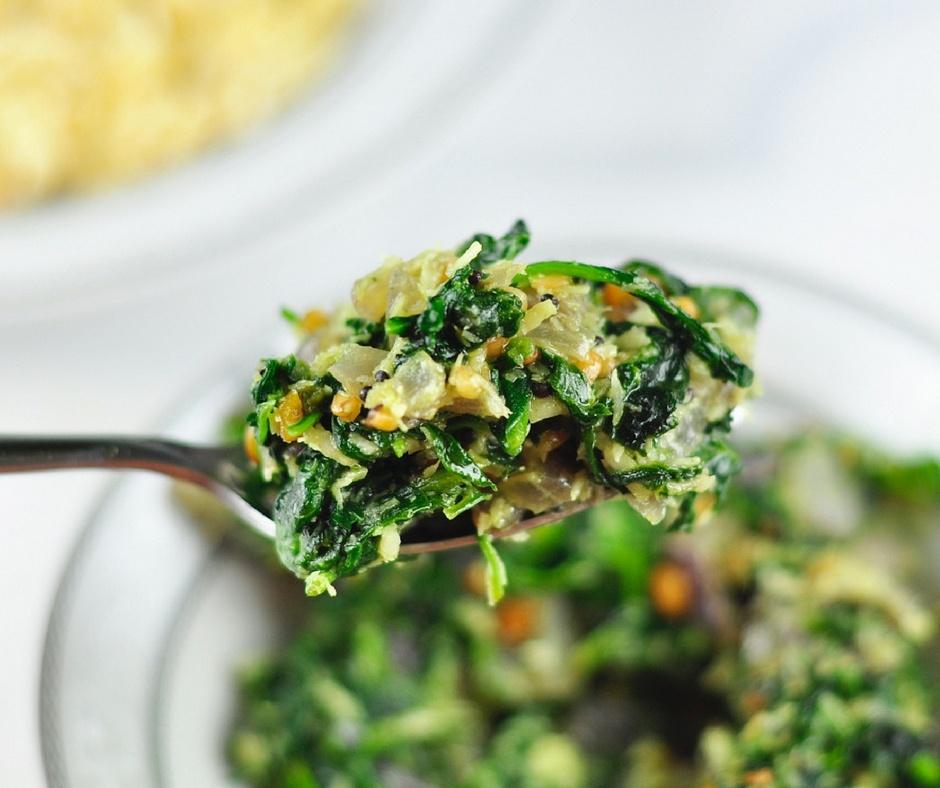 spinach poriyal