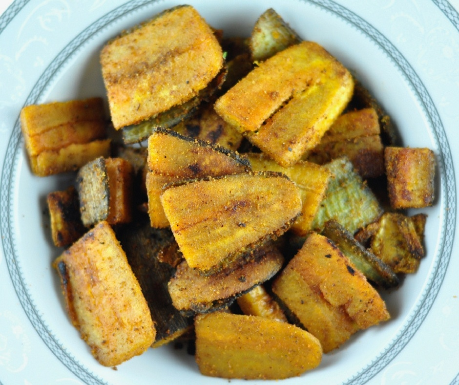 spicy plantain fry