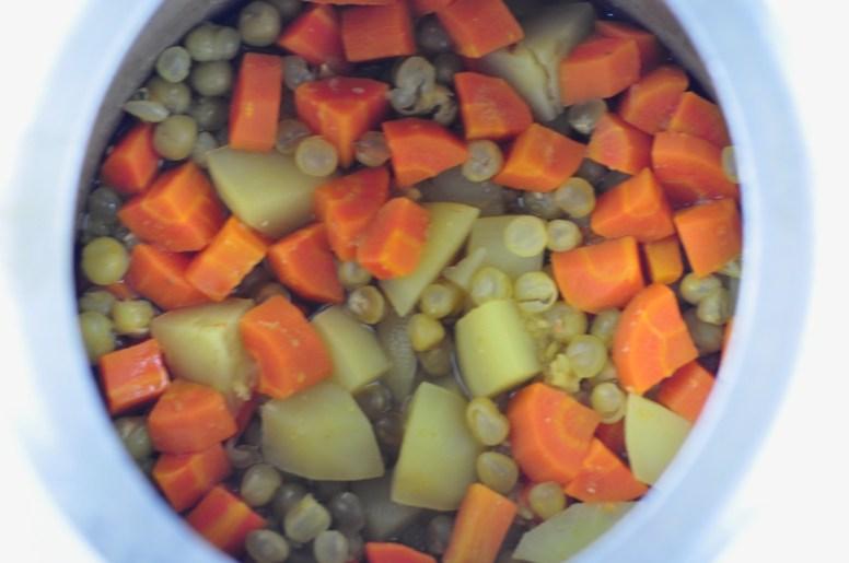 green peas carrot potato curry