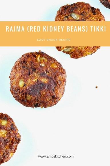 rajma(red kidney Beans) tikki
