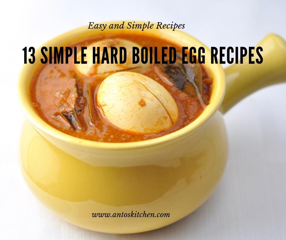 13 simple hard boiled eggs recipe