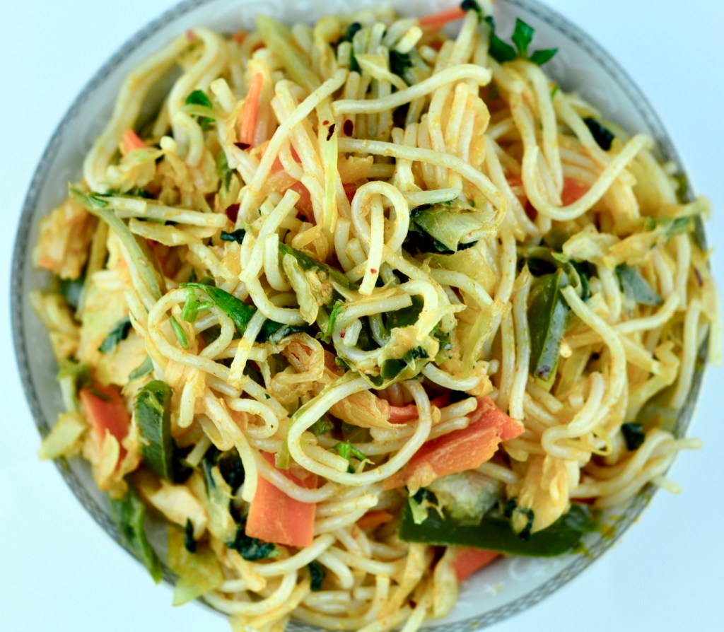 Veg Thai Red Curry Noodles