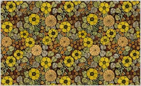Blommor i brunt - gulgrön