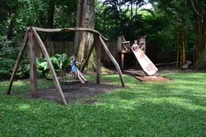 In de speeltuin van de Botanische tuin