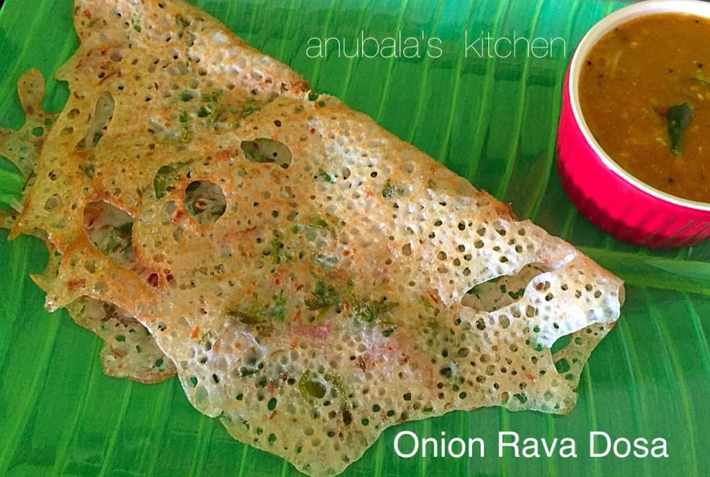 Onion Rava Dosa