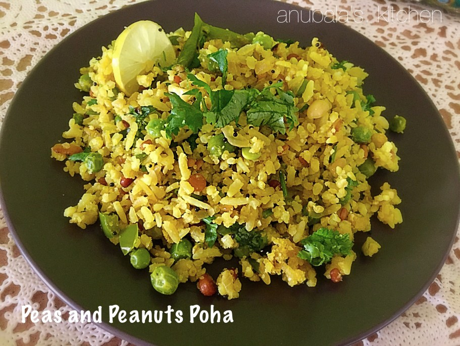 Peas and Peanuts Poha