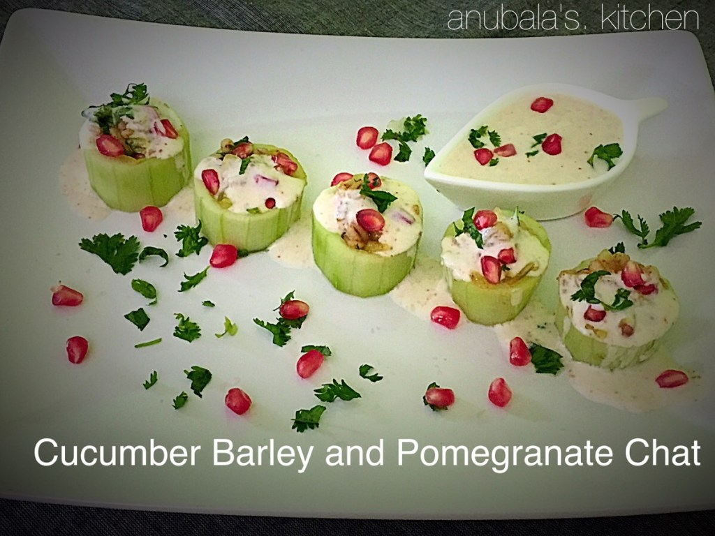 Cucumber Barley and Pomegranate Chat