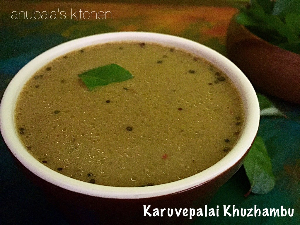 Karuvepalai Khuzhambu