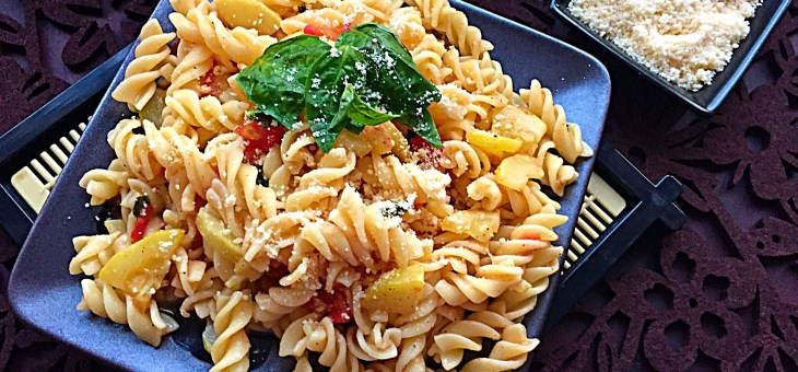 Fusilli with Zucchini and Tomatoes