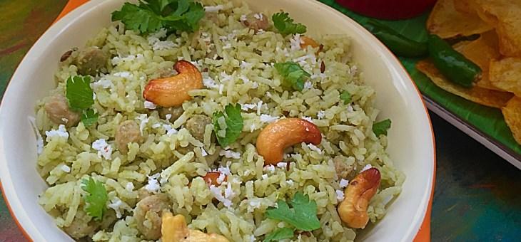 Soya Chutney Rice