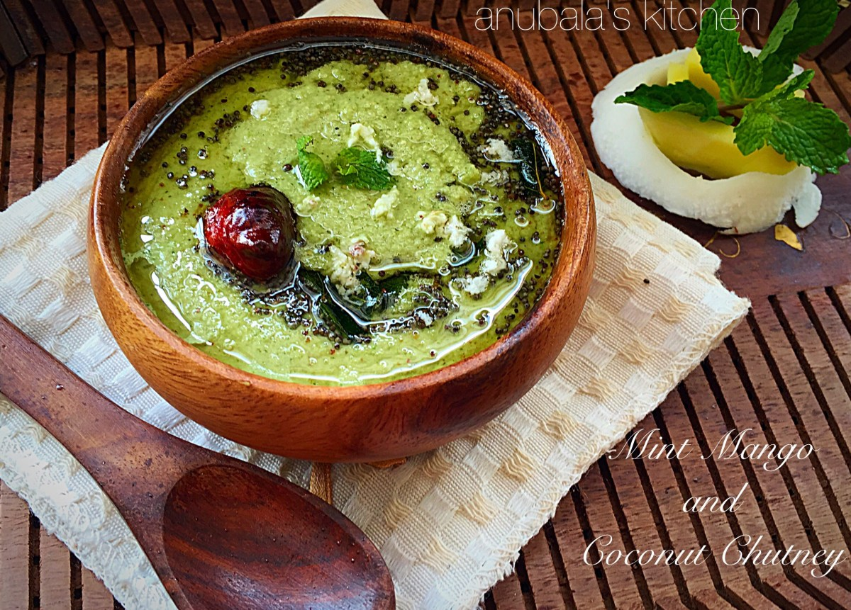 Mint Mango and Coconut Chutney