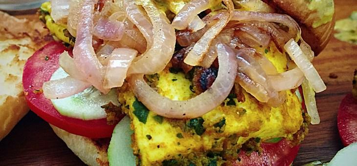 Curry Leaves Paneer Tikka Burger