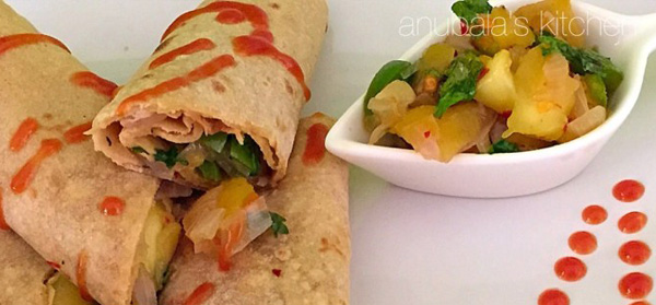 Tortilla Wraps with Mango Salsa