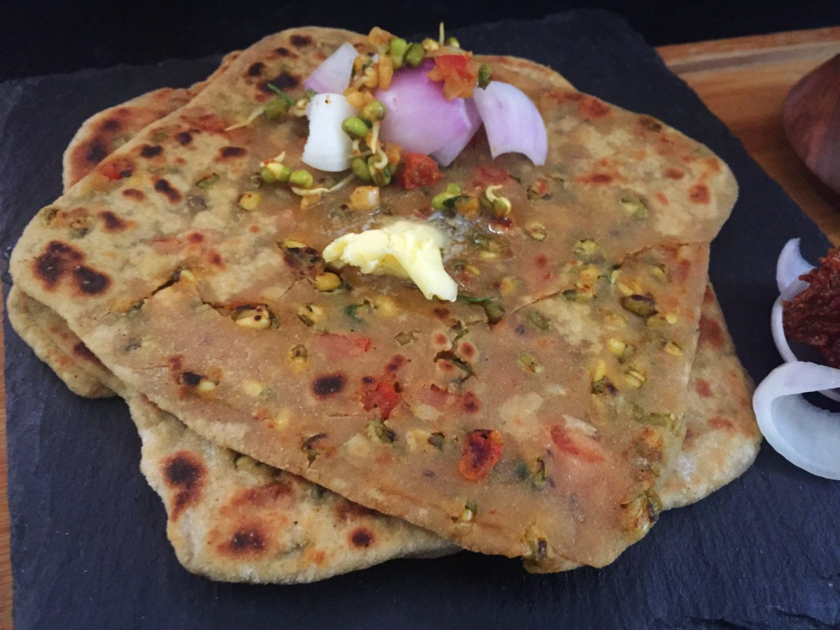Moong Sprouts Paratha