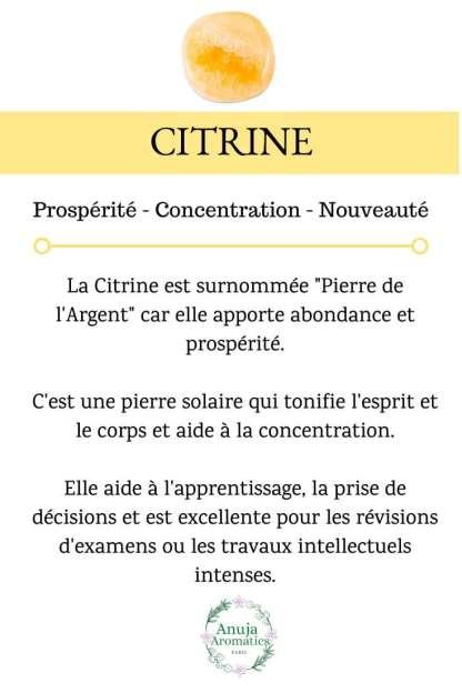 Citrine - Signification, Bienfaits, Vertus et Propriétés en Lithothérapie