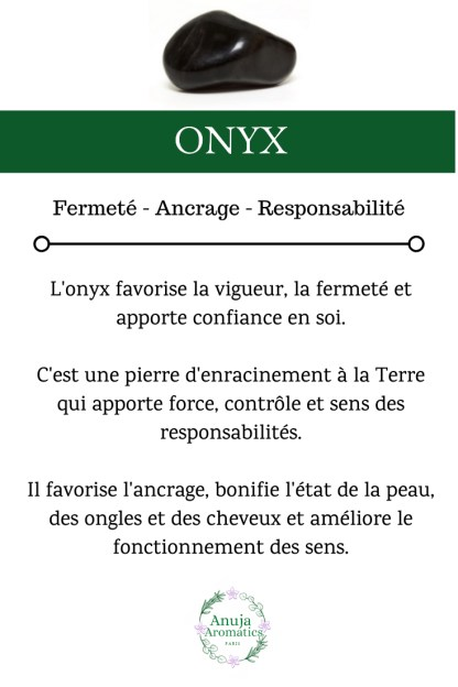 Onyx - Signification, Propriétés et Vertus de la Pierre en Lithothérapie