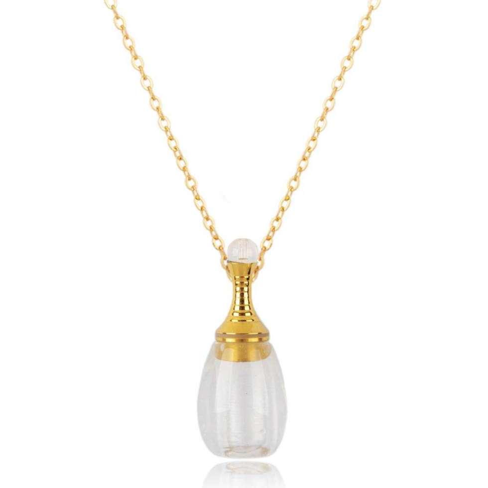 Pendentif diffuseur de Parfum naturel Victoria - Quartz Blanc