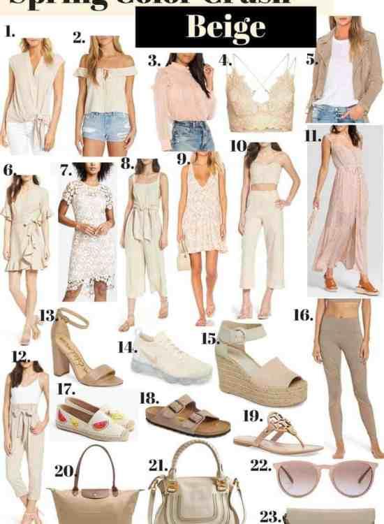 beige clothing