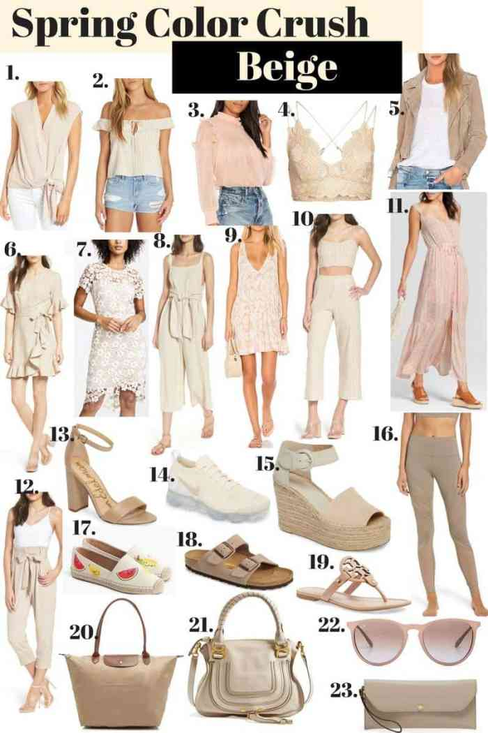 Beige Clothing Pieces for the Spring