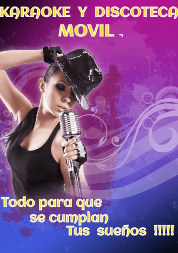 flayer karaoke y disco