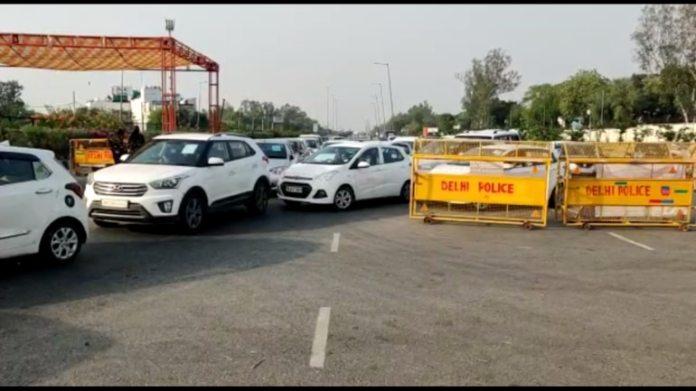 शुक्रवार सुबह दिल्ली-हरियाणा बॉर्डर पर ट्रैफिक जाम