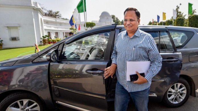 दिल्ली के स्वास्थ्य मंत्री सत्येंद्र जैन की फाइल फोटो