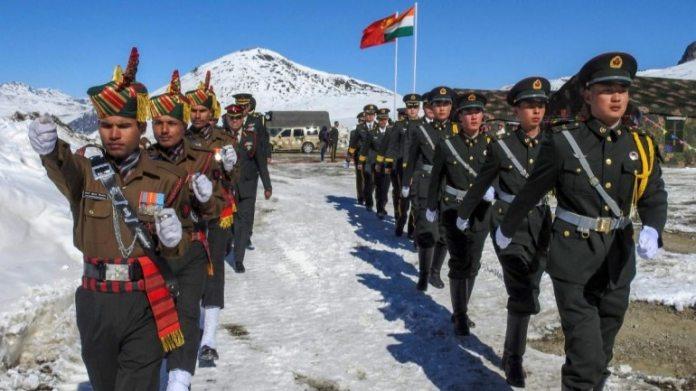 भारतीय और चीनी सैनिकों के संयुक्त सैन्य अभ्यास की फाइल फोटो