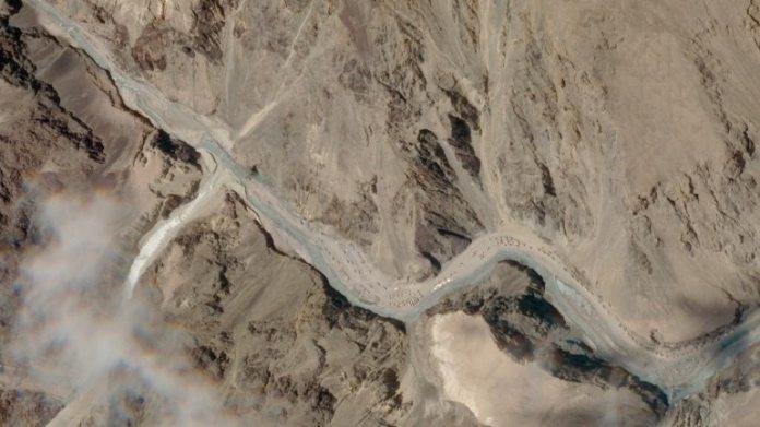 गालवान घाटी में सैन्य बिल्डअप के उपग्रह चित्र