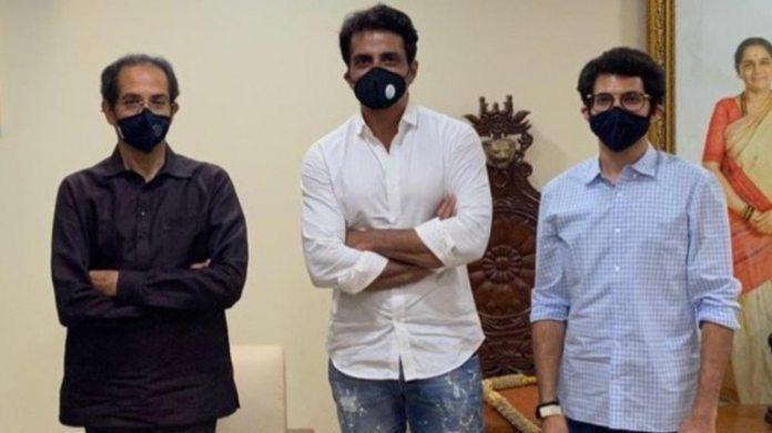 सोनू सूद ने महाराष्ट्र के सीएम उद्धव और आदित्य ठाकरे से मुलाकात की।