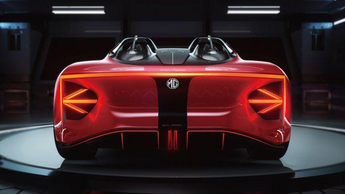 एमजी, नई दो-सीटर इलेक्ट्रिक स्पोर्ट्स कार की पहली छवियां