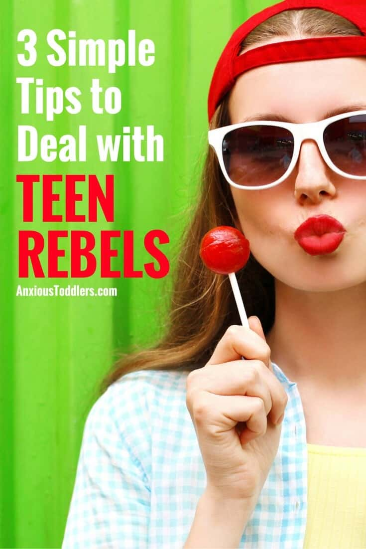 Do you have a teen rebel in your house? Teen rebellion is not a fun phase! Here are 3 tips to help you both survive.