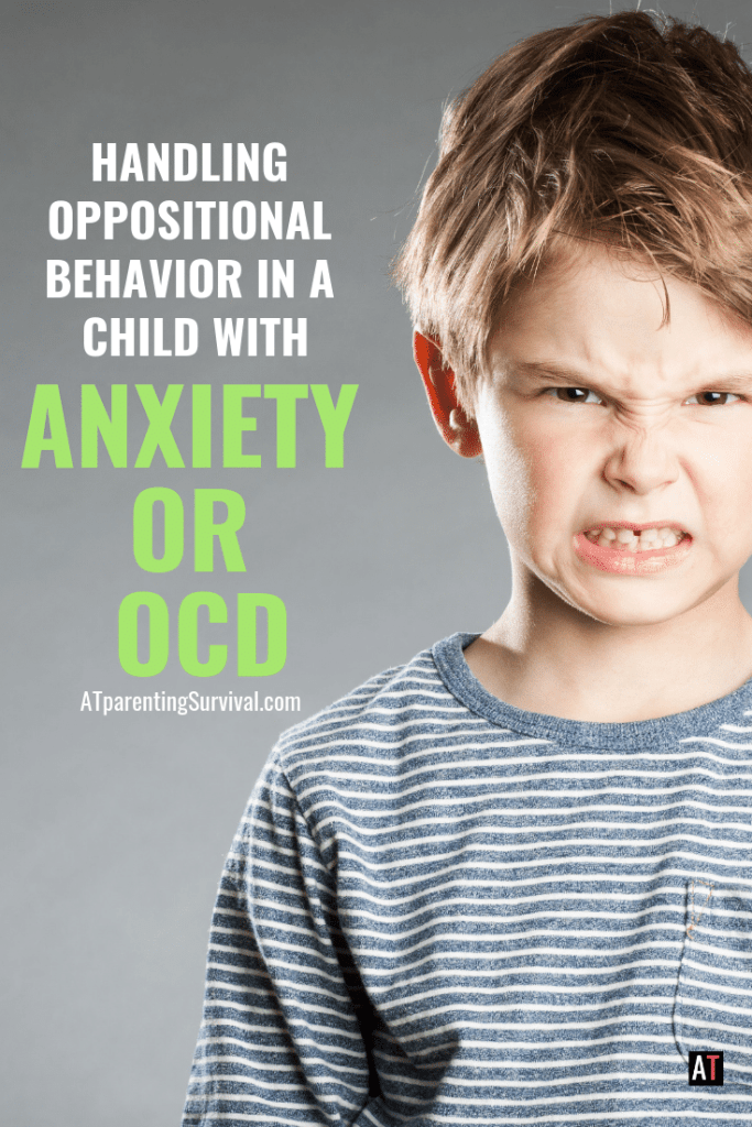 Are you dealing with oppositional behavior in a child with OCD or anxiety. Learn where the behavior comes from and how to handle it.
