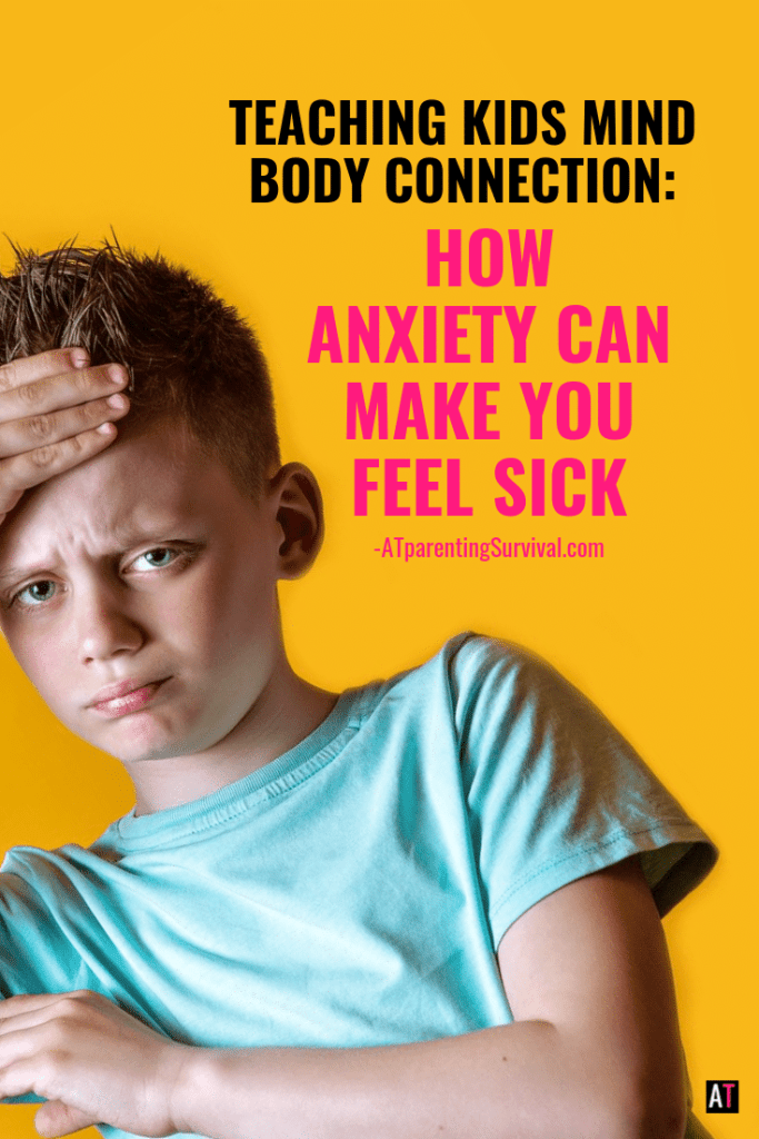 Anxiety can make kids feel sick. Teaching kids the mind body connection can help reduce anxiety. This quick video shows you how.