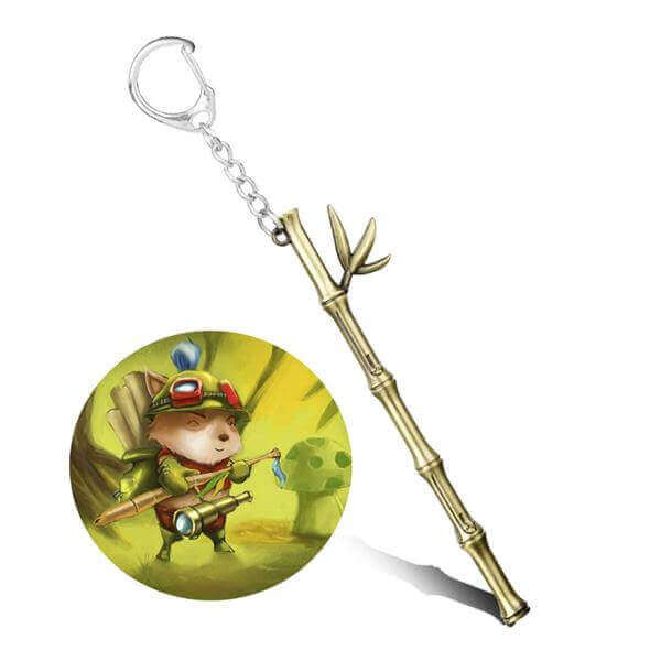 League of Legends Teemo Bamboo Weapon Keyring 01