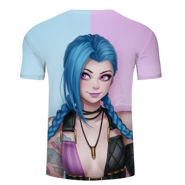 League of Legends LoL Jinx T-shirt Clothing