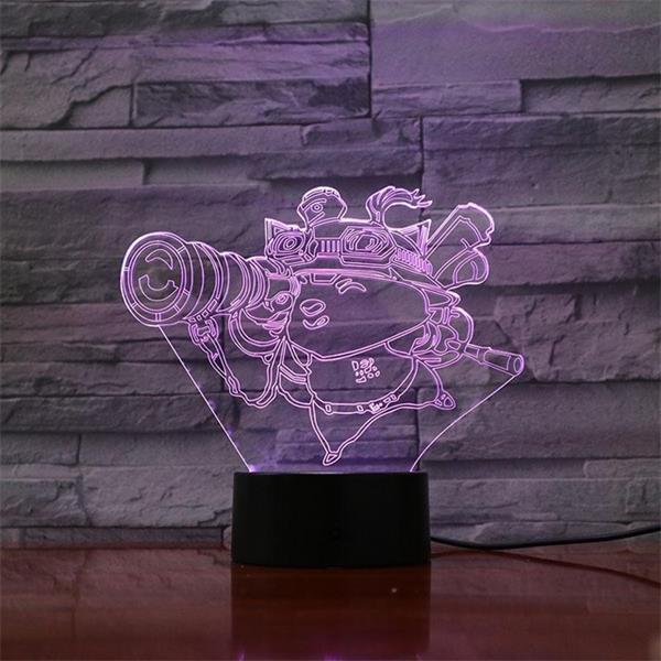 League of Legends LoL Teemo 7 Colors Touch Sensor Table Lamp