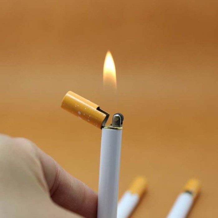 Useful Creative Mini Compact Jet Butane Lighter Metal Cigarette Shaped (No Gas)