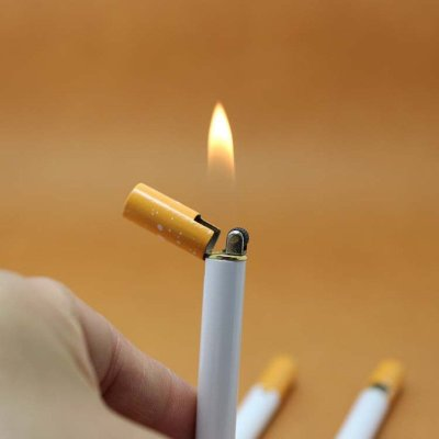 Useful Creative Mini Compact Jet Butane Lighter Metal Cigarette Shaped (No Gas)