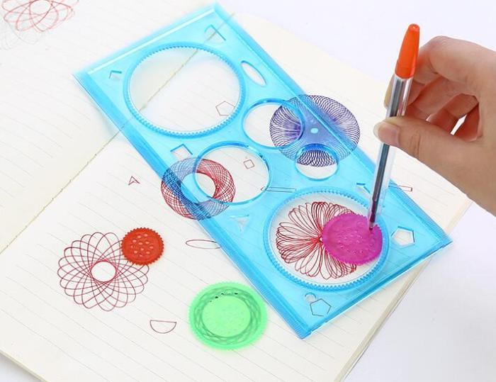 Creative Magic Drawing Board Multi-Purpose Drawing Template Ruler Satisfying Toys
