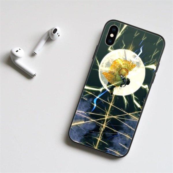 Anime Demon Slayer Zenitsu LED Phone Case For iPhone