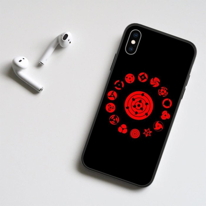 Anime Naruto Uchiha Sharingan LED Phone Case For iPhone