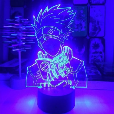 Anime Naruto Kakashi 16 Colors Table Lamp