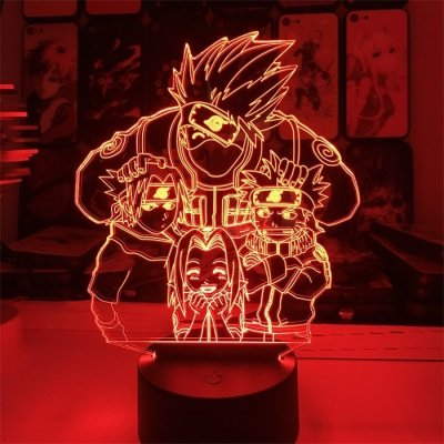 Anime Naruto Team 7 16 Colors Table Lamp