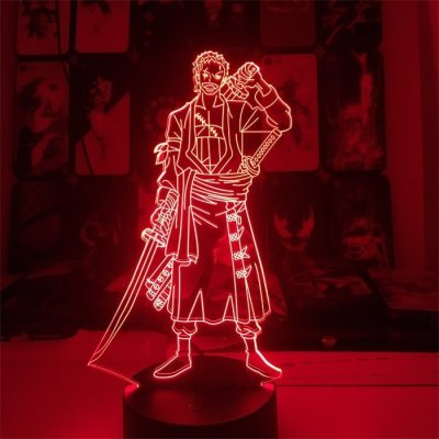 Anime One Piece Zoro 16 Colors Table Lamp