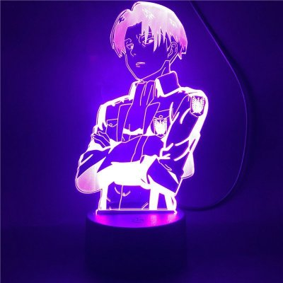 Anime Attack on Titan Levi 16 Colors Table Lamp