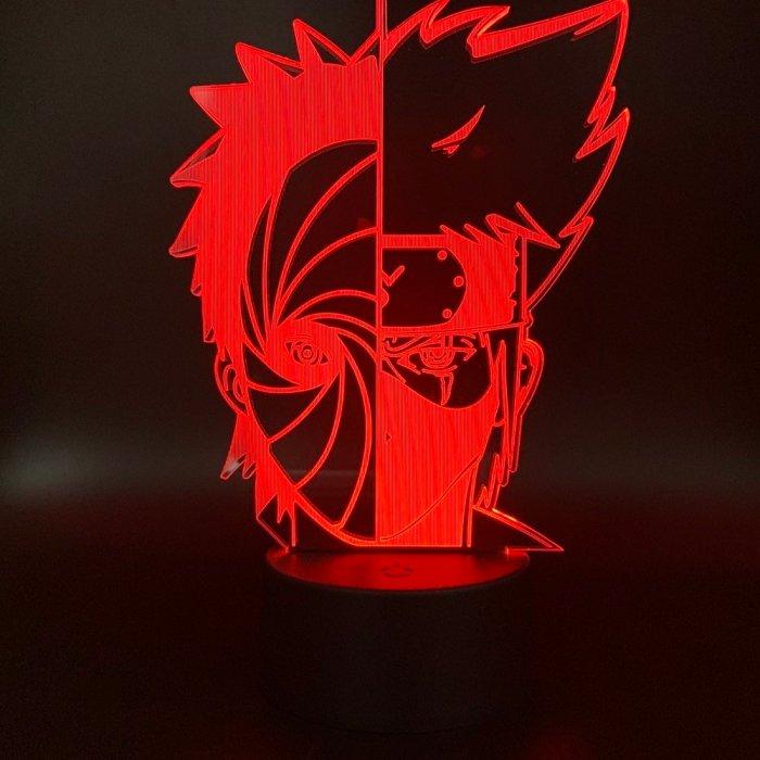 Anime Naruto Kakashi and Obito 16 Colors Table Lamp