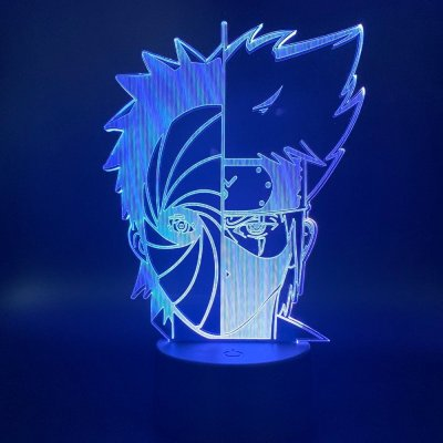 Anime Naruto Kakashi and Obito 16 Colors Table Lamp